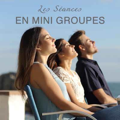 """<span class=""""miama"""">Les Séances</span><br />EN MINI GROUPES"""