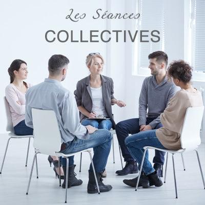 """<span class=""""miama"""">Les Séances</span><br />COLLECTIVES"""